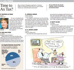 Time to Ax Tax? - Los Angeles Business Journal - August 01, 2015